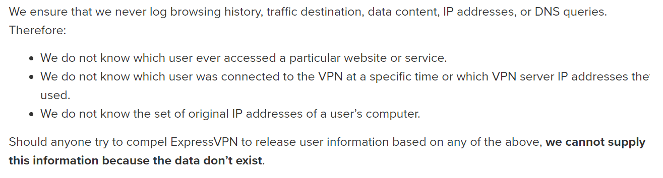 expressvpn logging policy 2
