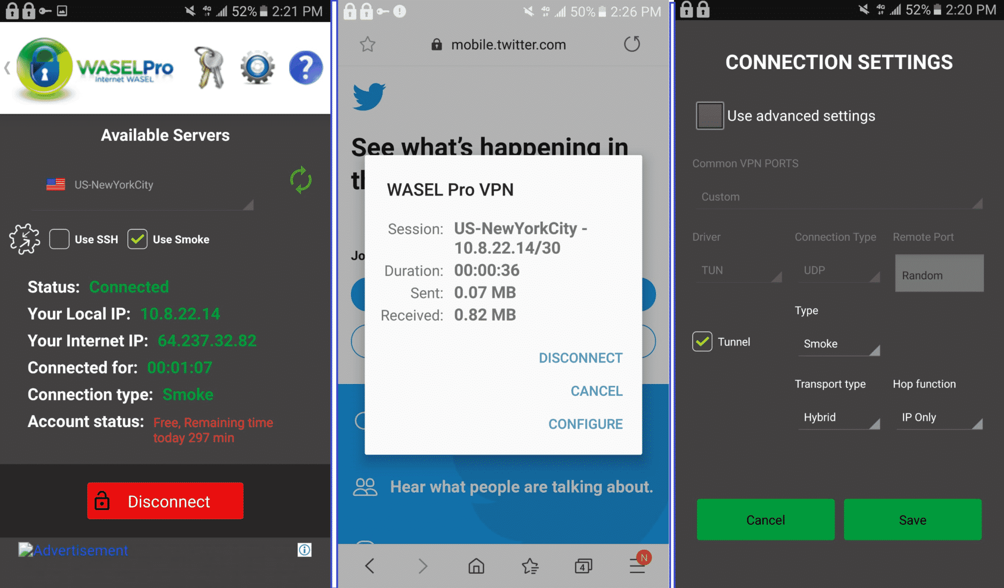 WaselPro Android tests